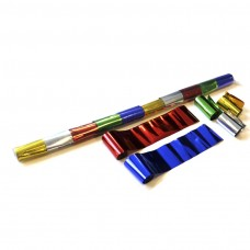 Metallic streamers 10m x 5cm  - Multicolour / Polybag, 10 streamers