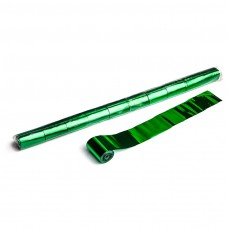 Metallic Stadium Streamers 20m x 5cm  - Green / Polybag, 10 streamers