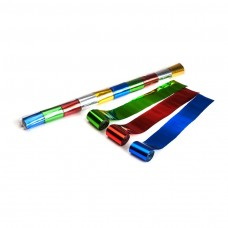 Metallic Stadium Streamers 20m x 5cm  - Multicolour / Polybag, 10 streamers