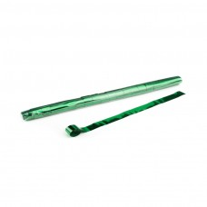 Metallic Streamers 10m x 2.5cm - Green / Polybag, 20 streamers