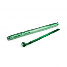 Metallic Stadium Streamers 20m x 2.5cm - Green / Polybag, 20 streamers